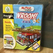 My First Leap Pad Vroom Vroom On The Go Interactive Book And Cartridge Brand New