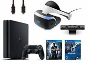 Vr Headset Playstation Camera Ps4 Slim 500gb Console Vr Game Disc Driveclub
