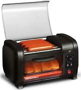 Hot Dog Roller Toaster Oven Stainless Steel Rollers W Oil Retaining Tray Black