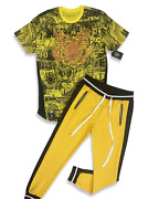 New 2-piece Mens [millionaire Eagle] Hipster T-shirt And Track Pants Set 6 Left