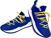Stephen Curry Signed Warriors Under Armour Curry 5 Basketball Shoes Psa/dna Rare