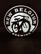 Vintage New Belgium Brewing Bicycle Led Lighted Beer Sign Ft Collins, Co Nice