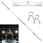 Cap 7 Ft 86 Standard Olympic 2 Steel Barbell With Collars - Home Workout Gym