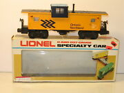 Lionel 6-6901 Ontario Northern Extended Vision Caboose Ob Mint 1982