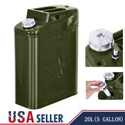 Jerry Can 20l Liter Oil Drum 5 Gallon Backup Tank F-uel Gas Gasoline G-reen