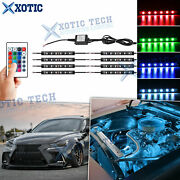 8x 4.9 Rgb Led Strips Engine Bay Accent Neon Light W/remote Control For Lexus