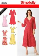 Simplicity Sewing Pattern 3827 Miss/plus Size Dresses Aa 10-12-14-16-18