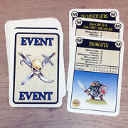Classic Warhammer Quest Event Cards Complete Deck Games Workshop 1995