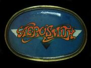 Tg07173 Really Cool Vintage 1976 Pacifica Aerosmith Rock Music Belt Buckle