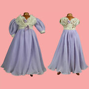 Rare Mint Tagged Mary Hoyer Doll Lavender Peignoir Nightgown 2-piece Set
