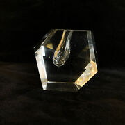 Faceted Crystal Orchid Bud Vase Mid Paperweight Century Timo Sarpaneva Finland