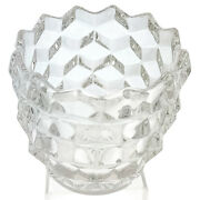 Vintage Fostoria Punch Bowl Glass Cup American Clear Cube Cubist Set Of 6