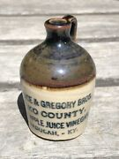 Wallace And Gregory Bros Elko County Ky Mini Distillery Stoneware Jug Bottle