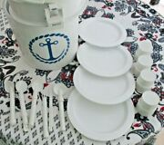 Vintage Collectible Ingrid Chicago 1970-1980's Plastic 24 Pc Picnic Boating Tote