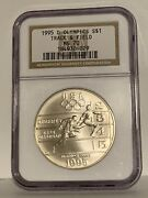 1995 D Olympics Track And Field Commemorative Ngc Ms 70 Silver Dollar