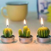 6 Candle 3 Styles Cactus Candle Green Mini Sets Candles Lights Home Tea R5c4