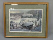 Ted Blaylock Wabash Cannonball Train Oil Painting Framed Artwork Ex