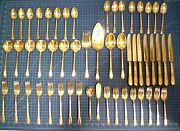 53 Piece 1847 Rogers Bros Is Adoration Pattern Silverware Silverplate In Box
