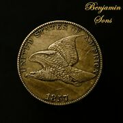 Double Struck 1857 Flying Eagle Cent 1c Penny 061921-14 Free Shipping