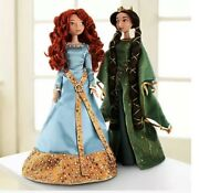 Disney Limited Edition Brave Merida And Queen Elinore Doll Set 2 Dolls In 1 Box