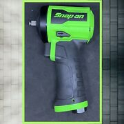 """New Snap-on™ 3/8"""" Super Duty Stubby Air Impact Wrench Pt338g Green"""