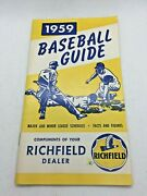 1959 Baseball Guide Major And Minor Schedule Richfield Oil And Gas