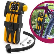 Bicycle Numbers Code Fuse Folding Strap Lock Mount Security Level 15