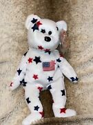 """Ty Beanie Baby - """"glory"""" The Bear - 1997 W/ Error Tag - Rare And Retired"""