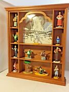 1988 Franklin Mint Turner- Wizard Of Oz Display Case With 13 Figures Some Htf