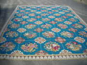 Final Sale Gorgeous Quite Rare Antique 10x14 French Aubusson Needlepoint Rug