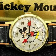 New Nos Limited Edition Disney 50th Anniversary Mickey Mouse Bradley Watch Rare