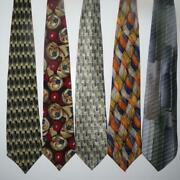 Lot Of 76 Jerry Garcia Neck Tie Lifetime Collection Watercolor Christmas Silk