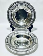 Fabulous 2 Vintage Wm Rogers Reticulated Bowl Dish Pierced Edge Silver Plate.