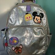 Disney Mickey Mouse And Other Cute Emojis Backpack Shimmery And Iridescent