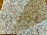 """Antique French Alencon Lace 60"""" By 108"""" Excellent Condition"""