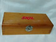 6pc Skil Router Molding Bit Set With Dovetail Wood Case Cut Shaper Mold Cabinet