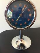 Rensie Vintage Space Age Alarm Clock. Japan. All Chrome. Extremely Rare.
