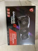 New And Unopened Msi Radeon Rx 6800 Gaming X Trio 16g Gddr6 Graphics Card Black