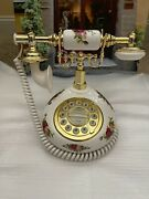 Royal Albert Doulton Old Country Roses Telephone 20 Carat Gold - New