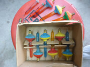 Vintage Christmas Glass Bubble Lights For Parts Or Repair 9 Complete + Parts