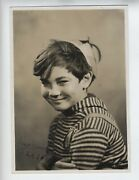 Vintage Larry Harris Signed Photo Our Gang Little Rascals Child Actor Wow