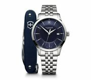Brand New Victorinox Menand039s Alliance With Pioneer Swiss Army Knife Watch 241802.1