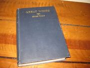 Great Winds By Ernest Poole 1933 Macmillan Company New York