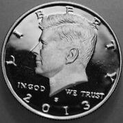 2013-s Kennedy Half Dollar 90 Silver Proof Deep Cameo Nice No Problem Coin