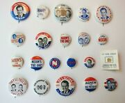 Richard Nixon 1968 Presidential Campaign Pinback Buttons, Lot Of 21, Political