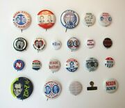Richard Nixon 1968 Presidential Campaign Pinback Buttons, Lot Of 22, Political