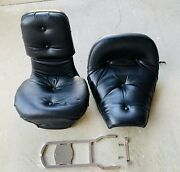 Harley Fxr Touring Front And Rear Seats King Queen Saddle With Sissy Bar Fxrt