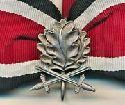 Wwii German Knights Cross Iron Cross Oakleaves And Swords Ribbon Medal Badge Award