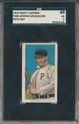 1910 T206 Sweet Caporal- George Mcquillan With Bat-sgc 40 Vg 3 Svsc-centered
