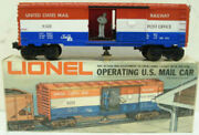 Lionel 6-9301 Us Mail Operating Boxcar Ex/box